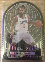 2019-20 Panini Obsidian Tunnel Vision Kawhi Leonard /99 LA Clippers Die Cut