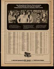 1974 Procol Harum In A King Biscuit Radio Promo Ad