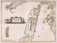 MAP ANTIQUE 1654 SCOTLAND BLAEU JURA HISTORIC LARGE REPLICA POSTER PRINT PAM0128