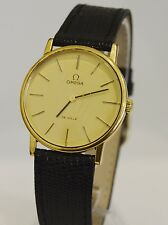 VINTAGE OMEGA DE VILLE MEN'S GOLD TONE WATCH 20 MICRON GOLD PLATED 17 JEWELS