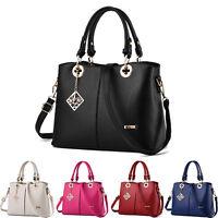 Leder Shopper Bag Damentasche Handtasche Schultertasche Damen Tasche Schwarz Neu