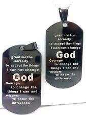 30 Serenity prayer stainless steel pendant men necklace Jewelry lots wholesale