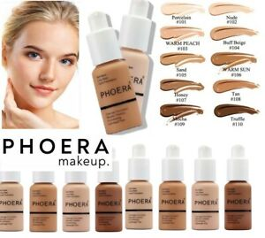 PHOERA Foundation Concealer Full Coverage Makeup Matte Brighten lasting pump