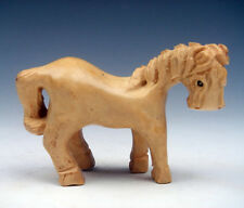 Boxwood Hand Carved Netsuke Sculpture Miniature Lovely Standing Horse #08171509