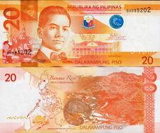 FILIPPINE - Philippines 20 piso 2016 G - FDS  UNC