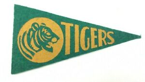 Vintage 1930's Detriot TIGERS Baseball Mini Pennant Wool Banner 2.25 x 4.5