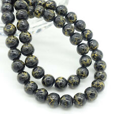 Wholesale new 40pcs Charms Round Glass Loose Spacer Beads Findings 8mm