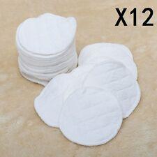 12Pcs Baby Feeding Breast Pads Reusable Washable COTTON Nursing Breastfeeding UK