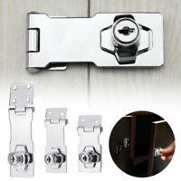 "2.5""/3""/4"" Locking Hasp and Staple with Keys Padlock Cupboard Shed Garage Lock"