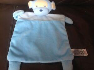 Next Blue Monkey Bear Stripey Comfort Blanket My Best Friend soft toy
