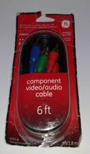 GE Component Audio Video Cable Connector 6 Feet 33321