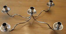 Centre de table bougeoir en métal argenté