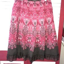 ❤️ 2ND PRICE DROP! Peter Nygard 100% Cotton Pink & Brown Skirt Size 4P