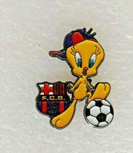Pin's lapel pin pins FOOTBALL FCB BARCELONE BARCA TITI Tweety Pie Bird ballon 2