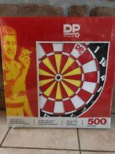 """NIB!!! Vintage Mid-Century """" DP Superstar 500 """" 2 Sided Dartboard"""