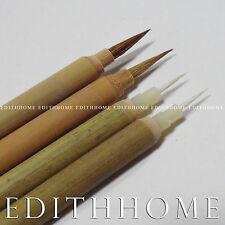 Chinese Small Writing Fine Hair Brush Set - Bai Gui, Goat & Zi Gui, Rabbit 4pcs