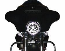 "Custom Dynamics Chrome 7"" Headlight Trim Ring Built In Turn Signal For Harley"