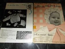 LOT OF 2 VINTAGE KNITTING BABIES/CHILDREN'S PATTERN BOOKLETS 1942 & 50'S *