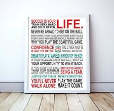 "Liverpool FC ""Soccer Is Your Life"" Manifesto Poster, 17"" x 22"""