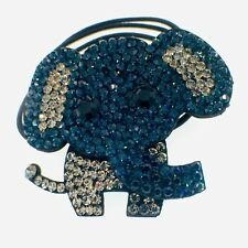 Elephant Hair Rope Band use Swarovski Crystal Ponytail Holder Hairpin Nave Blue