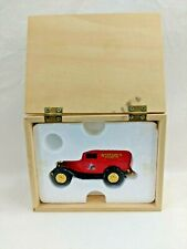 ERTL 1932 Ford Panel Delivery Truck Anheuser Busch Property Wooden Box