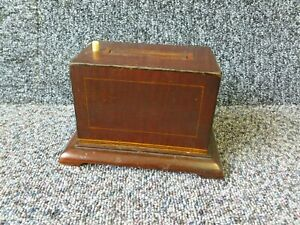 Antique Inlaid Wooden Mechanical Pop Up Cigarette Dispenser