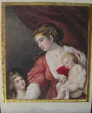 SMALL PORTRAIT MOTHER AND TWO CHILDREN ELIZABETH HENNAKER (2) W/COL C1840