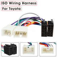 Car Stereo Radio CD ISO Wiring Harness Plug Loom Adapter Connector For Toyota #