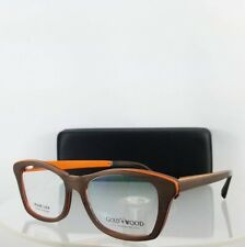 0f801d83d33d Authentic Gold and Wood Electra 02 52mm Brown Orange Frame