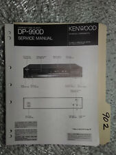 Kenwood dp-990 d service manual original repair book stereo cd player