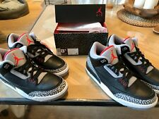2x new Nike Air Jordan 3 black cement, size 42 (EUR)