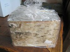 "Rectangular Block REAL CANDLES BIRCH BARK 1 wick  6""x4""x4"" NEW Palm oil"