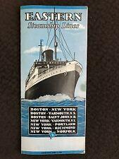 Eastern Steamship Lines Timetable Prices New York Boston Portland Norfolk~113073