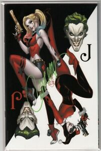 Harley Quinn's Villain of the Year #1 NM+ Campbell Variant Cover D Signed COA