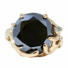 6.7 Carat Black Diamond Ring 14k Rose Gold