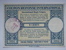 COUPON reponse international 9 cents 1946 New York USA america 3