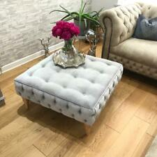 ⚽⚽⚽,, ALEX ''AMAZING FOOTSTOOL  GREY VELVET FABRIC FREE POST