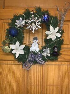 Handmade Christmas Snowman Wreath