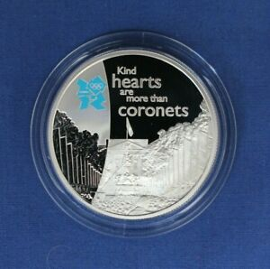 """2010 Silver Proof £5 coin """"Spirit Series - Pageantry"""" in Capsule with COA"""