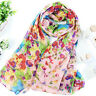 New Women Ladies Floral Printed Flower Scarf Soft Wrap Long Shawl Stole Scarves