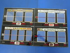 Lot of 4 Bally Gaming Inc Single Payline In the Money Reel Glass Slot Machine