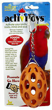 JW PET BIRD TOY PARROT NUTCASE NUT CASE RUBBER F/ CAGE FREE SHIPPING TO THE USA