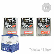 Engine Oil and Filter Service Kit 6 LITRES Motul 300V Chrono 10W-40 6L