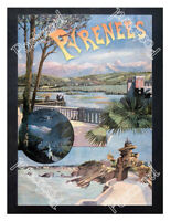 Historic attractions of the Pyrenees 1890s Advertising Postcard