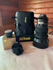 NIKON AF-S NIKKOR - 200mm F 2.0 ED VR 1:2G  +  TC 17E II TELECONVERTER - MINT