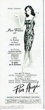 PUBLICITE ADVERTISING 115  1966   Pier Augé  cosmétiques Miss France