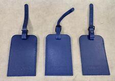 RIMOWA Leather Luggage Tags Set of 3 Blue
