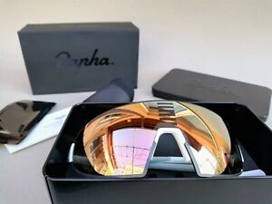 Rapha Pro Team Flyweight Cycling Sunglasses - White/Bronze