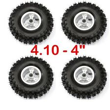 4PCS  4.10-4 Tyre Tire and Rim for Go kart Scooter Quad ATV Buggy Trolley su