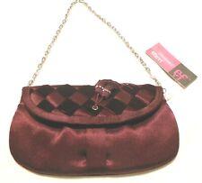 Ladies Burgundy Evening Bag Glamour Eferri - Clutch Or Chain Strap NWT